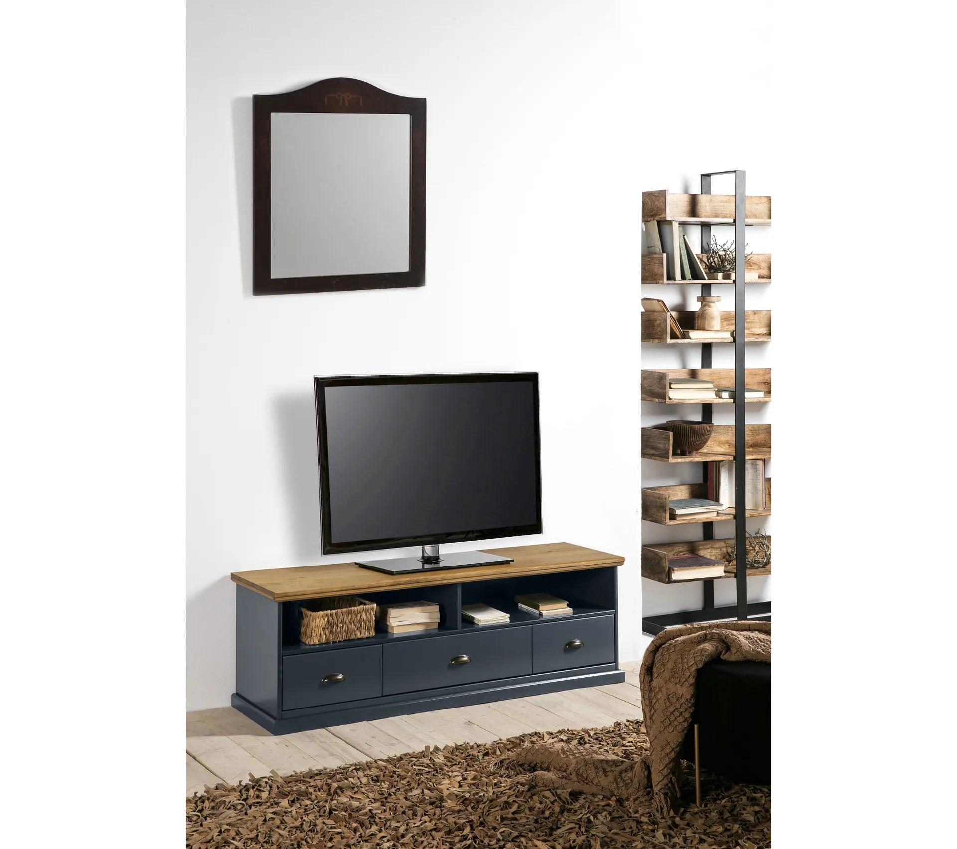 meuble tv alphonse gris anthracite pin massif