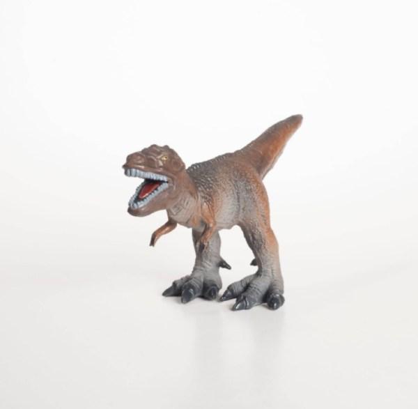 Leksaksdinosaur -T-rex i naturgummi