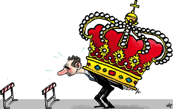 King Philip VI of Spain, cartoon by Kap