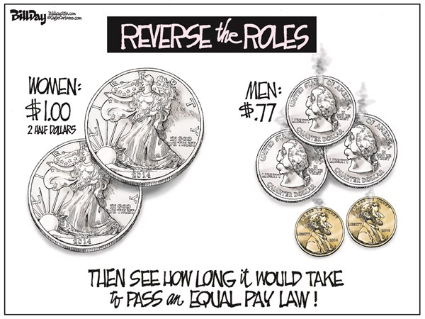 146946 600 EQUAL PAY cartoons