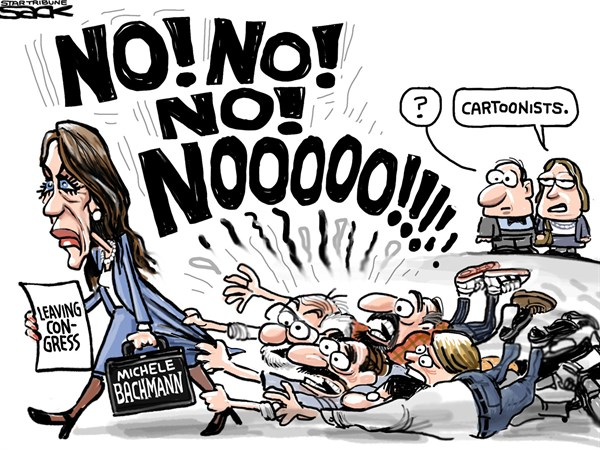 132499 600 Michele Bachmann Leaves Congress cartoons