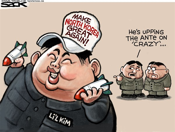 Image result for president trump cartoons north korea