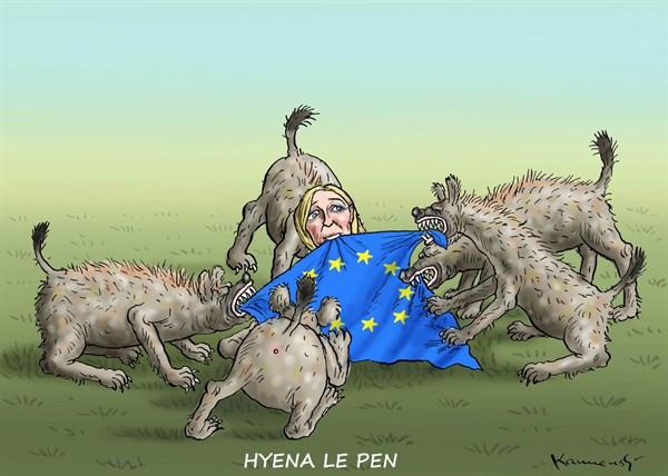 Marian Kamensky - Austria - Hyena Le Pen - English - hyena,marine le pen,france,marine-le-pen