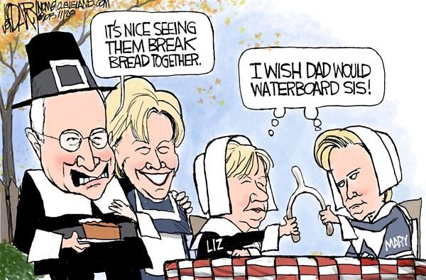 140404 600 Cheney family feud cartoons