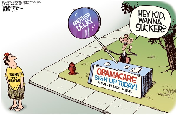 146312 600 Yet Another Obamacare Delay cartoons