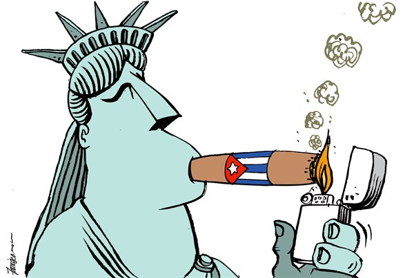 157652 600 Thawing US Cuba relations cartoons
