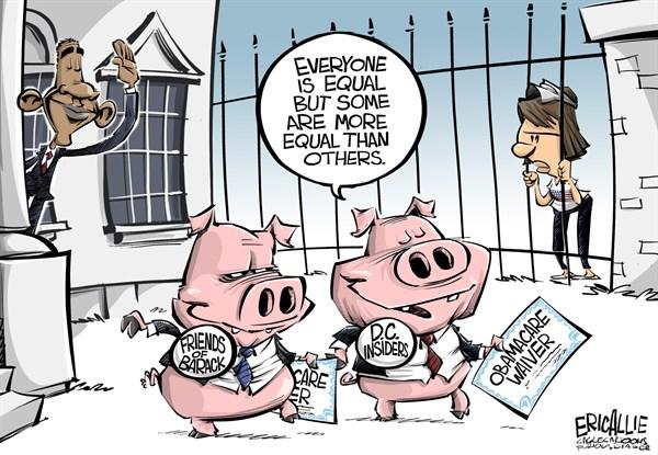 135698 600 ObamaCare waivers cartoons