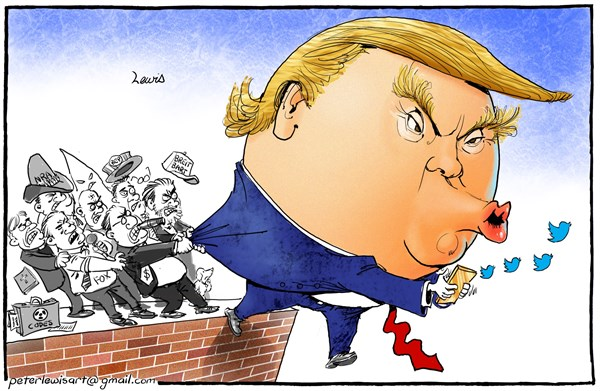 Peter Lewis - Australia, Politicalcartoons.com - Trumpty Dumpty - English - Donald Trump, FBI