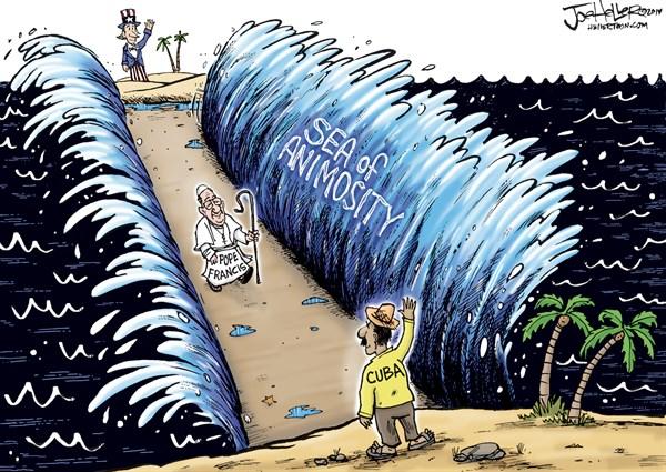 157663 600 Cuba and Pope cartoons