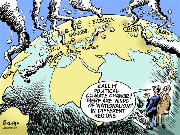 Image result for cartoons nationalism vs. globalism