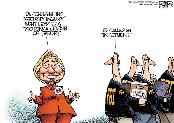 Image result for cartoons fbi investigating clinton foundation