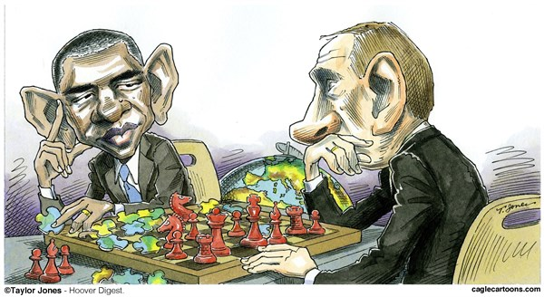Image result for caricature obama putin