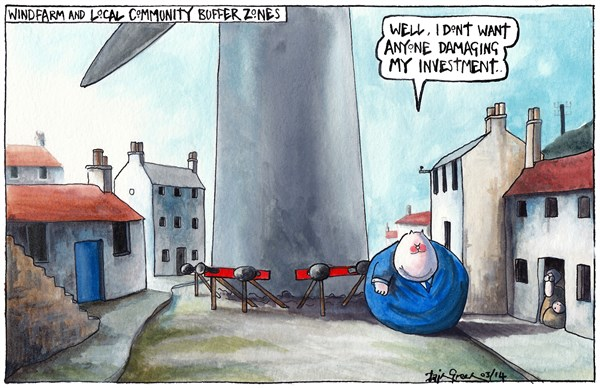 146893 600 WINDFARM BUFFER ZONES FOR SCOTLAND AGAINST SPIN cartoons