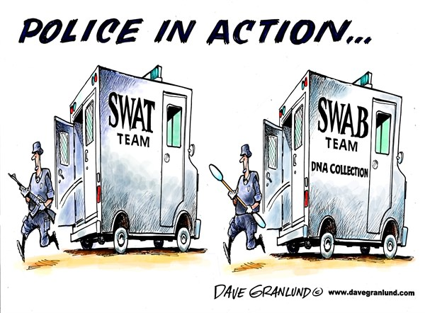 132683 600 Police DNA collection cartoons