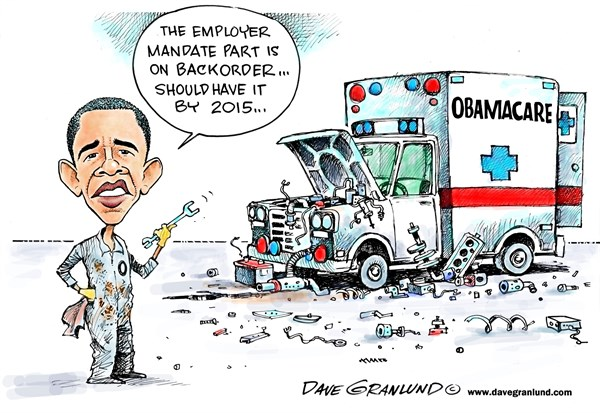 134089 600 Obamacare mandate delayed cartoons