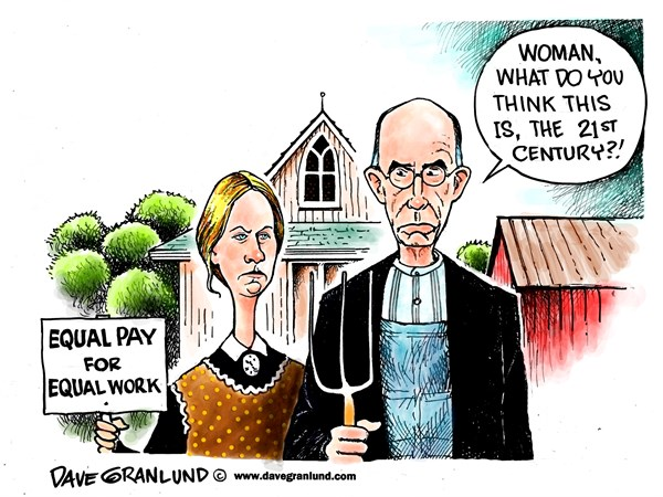 146977 600 Equal pay for equal work cartoons