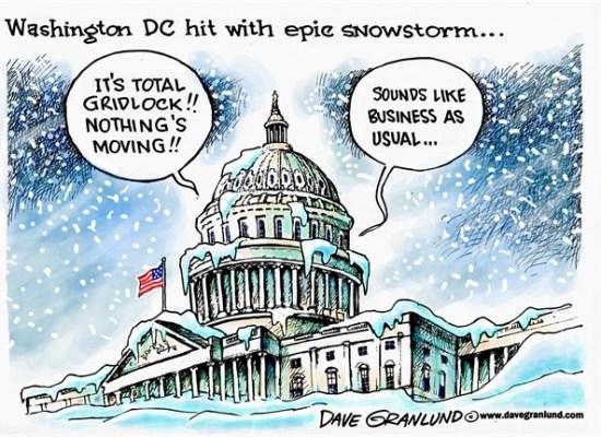 Washington DC Hit With Epic Snowstorm... - Image Copyright Dave Granland DaveGranlund.Com - Cagle.Com