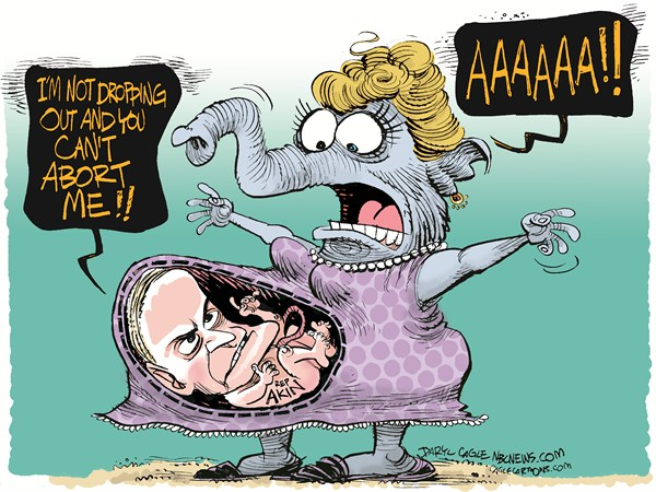 Rep Akin and Abortion © Daryl Cagle,MSNBC.com,Representative,Congressman,Todd Akin,Missouri,senate race,Claire McCaskill,abortion,legitimate rape