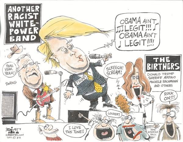 Obama Aint Legit © Chris Britt,The State Journal Register,obama,trump,birthers,campaign,election
