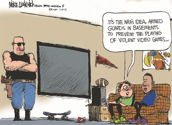 126462 600 Armed Guards cartoons