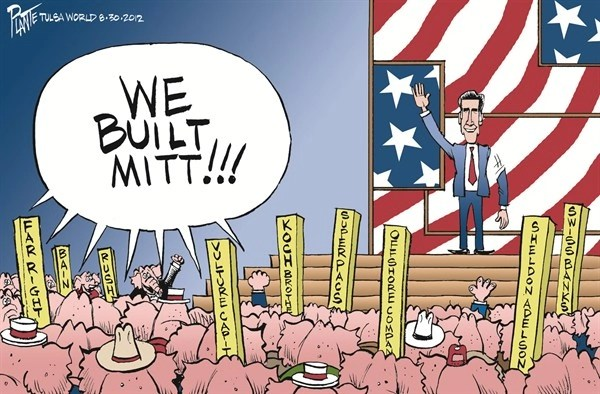 We Built Mitt © Bruce Plante,Tulsa World,romney,convention,built,account,offshore,campaign,election,gop,republican-convention-2012