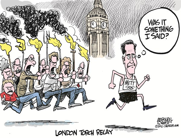 London Torch Relay © Marshall Ramsey,The Clarion Ledger, Jackson Mississippi,romney,olympics,london,gaffe,torch,relay,british,comments,,romney olympics