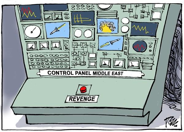 Control panel Middle East © Tom Janssen,The Netherlands,Middle East revenge, Israel Gaza revenge, Gaza rockets Israel,