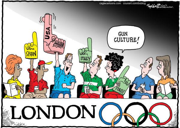 USA At the Olympics © Bob Englehart,The Hartford Courant,