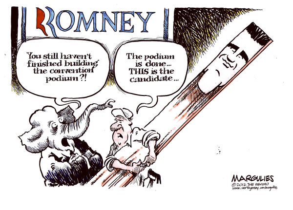 Republican Convention © Jimmy Margulies,The Record of Hackensack, NJ,Republican Convention, Mitt Romney, Romney, Romney personality, Romney lacks charisma