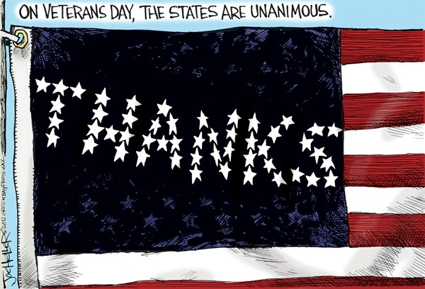 Veterans Day © Joe Heller,Green Bay Press-Gazette,Veterans Day