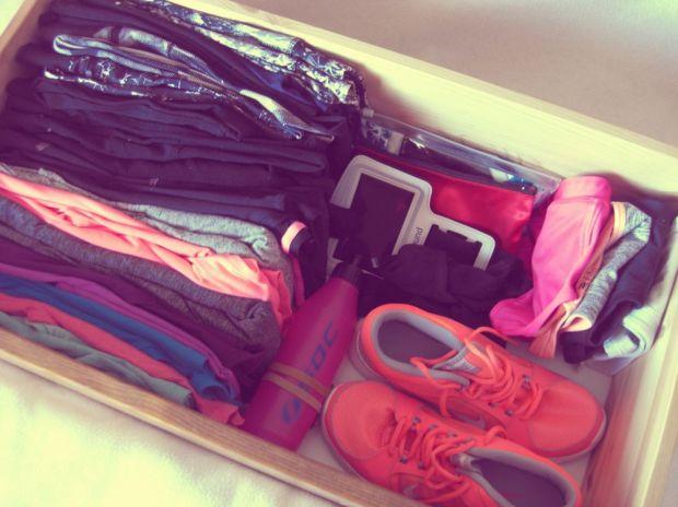 Hur jag förvarar mina träningskläder