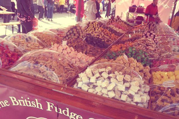 Internationella matmässan i Västerås med engelsk fudge