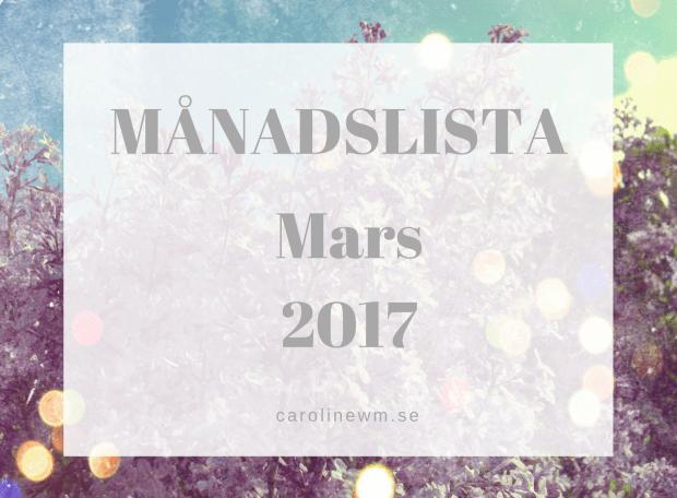 Månadslista mars 2017