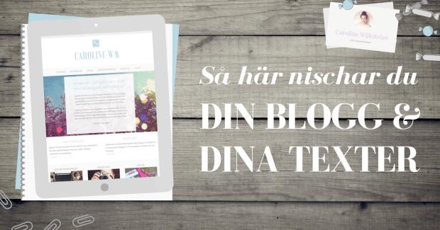 Hur du kan nischa blogg