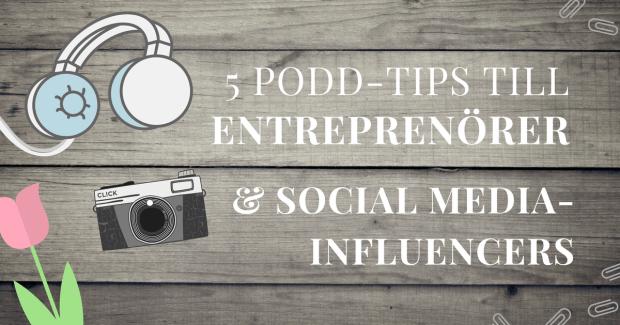 Poddar för entreprenörer och sociala medier-influencers