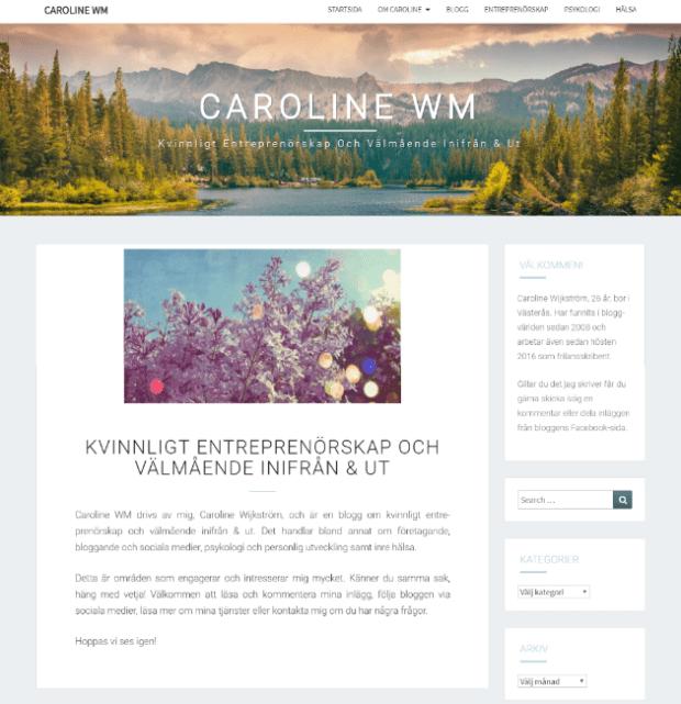 Tre gratis WordPress-teman för bloggar - Nisarg theme