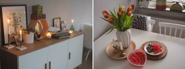 Bloggpaus, nya möbler och alla hjärtans dag-godis