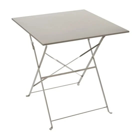 table bistrot carree pliante taupe a