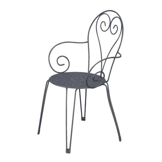 fauteuil jardin palma gris a prix carrefour