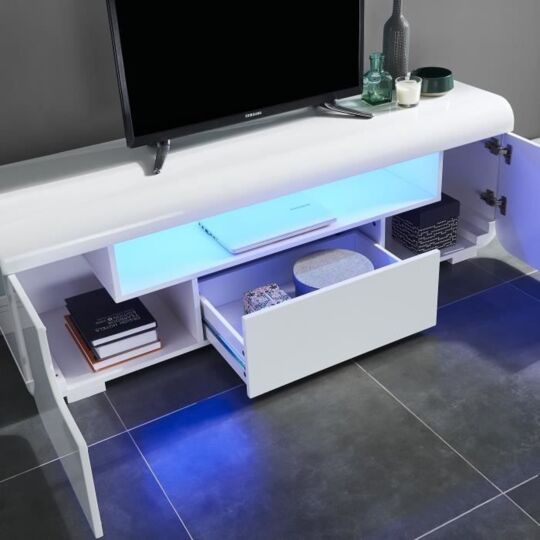miami meuble tv avec led contemporain