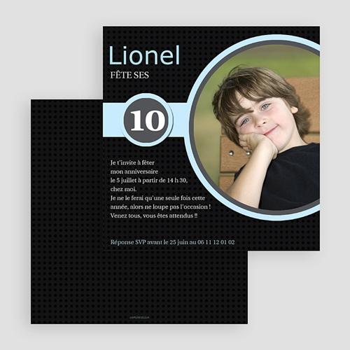 carte invitation anniversaire garcon 10 ans