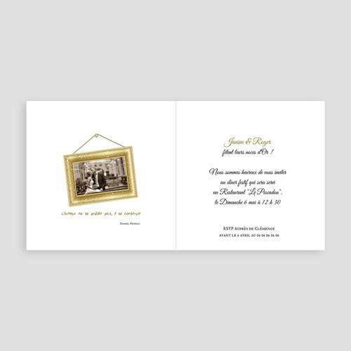 carte invitation anniversaire mariage noces d or 50 ans