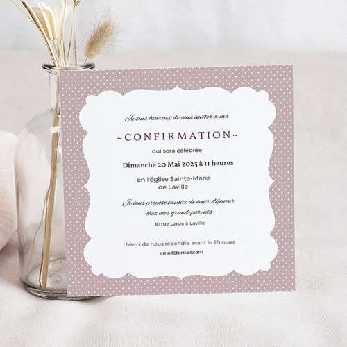 carte invitation confirmation elegance