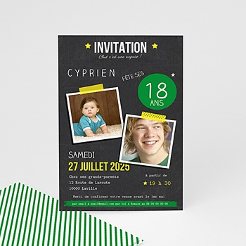 carte invitation anniversaire adulte pop 18