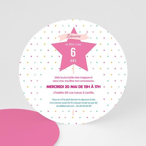 carte invitation anniversaire fille princesse et fee