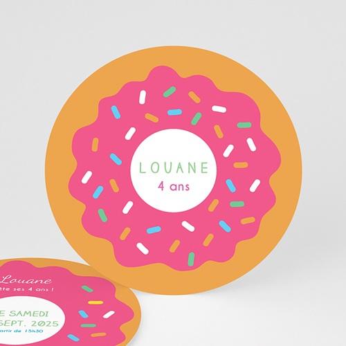 carte invitation anniversaire fille donut party