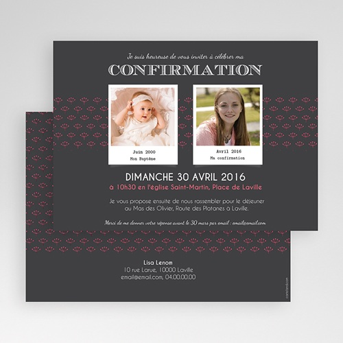 carte invitation confirmation confirmation du bapteme