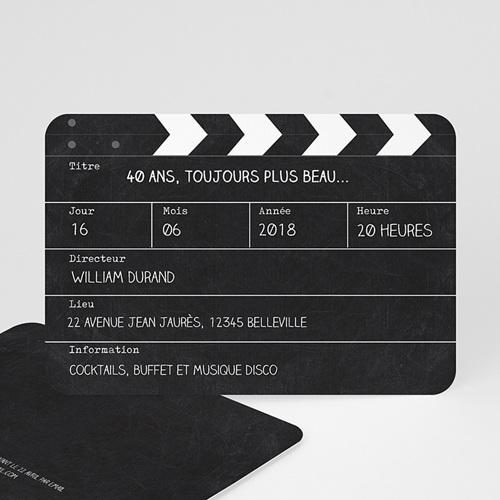 carte invitation anniversaire adulte cinema