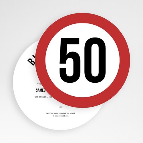 carte invitation anniversaire adulte zone 50