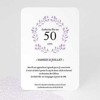 carte invitation anniversaire 50 ans cinquante